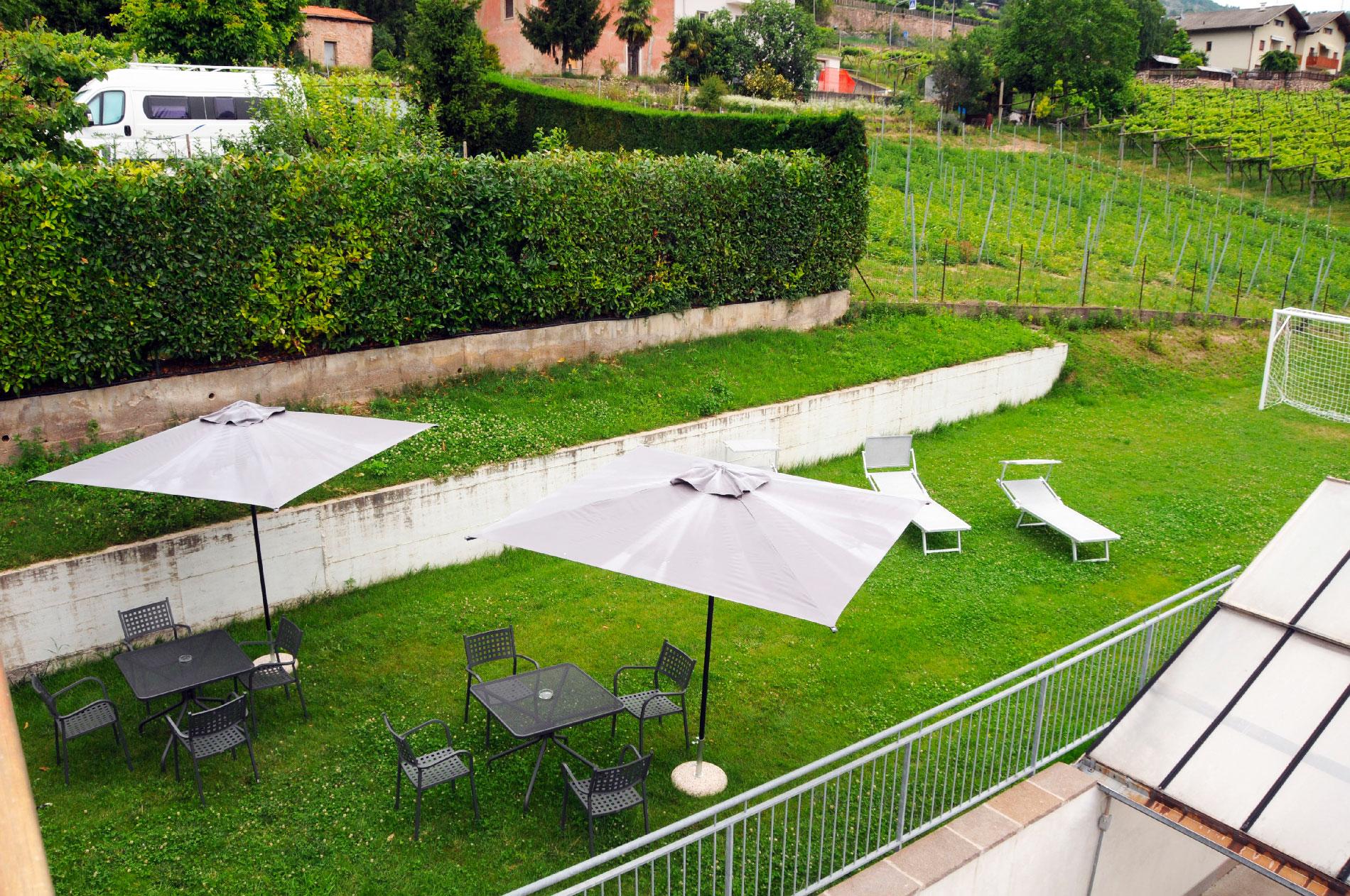 Panoramica del nostro giardino